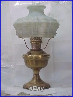 Aladdin model 7 oil lamp comp with orig parts shade mozeypictures Choice Image