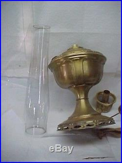 Aladdin Model 7 Oil Lamp, Comp. With Orig. Parts & Shade