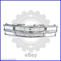All Chrome Grille Fits 94-98 Chevy C/K 1500 2500 3500 Pickup Truck Composite