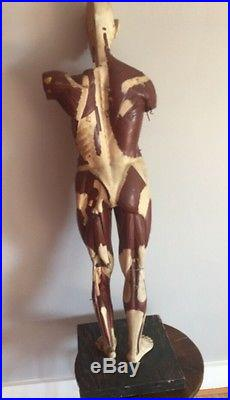 Antique 1930s Human Wood Body Anatomy Model Parts Medical Learning Male Female