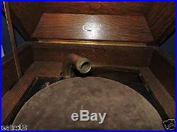 Antique Edison Disc Phonograph Model C-250 Hand Crank For Parts Repair Refurbish