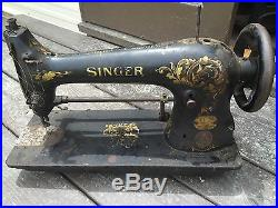 Antique Rare Singer Sewing Machine Model 31-24 For Parts