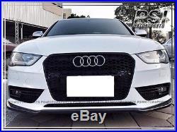 Audi A4 B8 2013-2015 Facelift Model Only P Style Carbon Fiber Front Lip