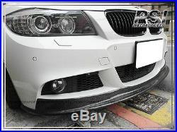 BMW E90 E91 Facelift 09-11 AK Style Carbon Fiber with M-Tech Front Bumper Lip 4Dr