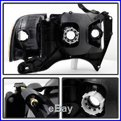 Black 1999-2002 Dodge Ram Sport Model Headlights Headlamps +Corner Lamps Lights