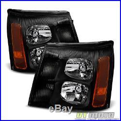 Black 2003-2006 Cadillac Escalade Headlights Lights 03 04 05 06 (HID Model Only)
