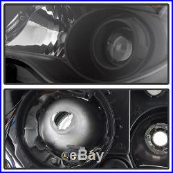 Black 2010-2015 Chevy Equinox Halogen Model Projector Headlights Headlamps 10-15