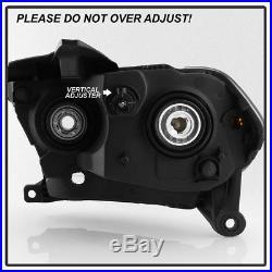 Black 2011 2012 2013 Dodge Durango Headlights Halogen Headlamps Model Left+Right