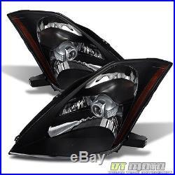 Black Headlamps For 2003 2004 2005 350Z Z33 Fairlady HID D2S Model Headlights