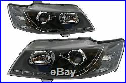 Black Projector Headlights to suit Holden Commodore All VY Models LED DRL Like