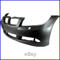 Bumper Cover For 2007-2008 BMW 328i with Headlight Washer Holes Front