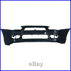 Bumper Cover For 2008-2015 Mitsubishi Lancer Front Plastic with with Air Dam Holes