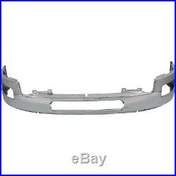 Bumper For 2011-14 Chevy Silverado 2500 3500 HD Front Chrome with Fog Light Hole