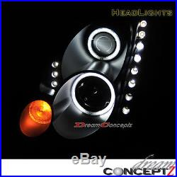 CCFL HALO ANGEL EYES PROJECTOR HEADLIGHT for INFINITI G35 2DR COUPE LED BLACK