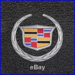 Cadillac SRX Black Carpet Floor Mats 3 Pc- Official Cadillac Logo-fits 2010-2016