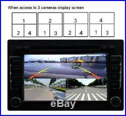 Car 360° Full Parking View 4-Way Control Box 4 Camera DVR Split Video Monitoring
