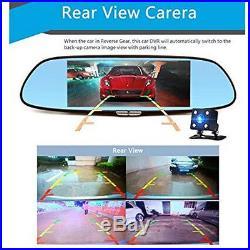 Car 3G 1080P DVR Car Video Rearview Mirror Wifi GPS Dual Lens Dash Cam Recorder