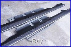 Carbon Fiber Side Skirt Extension Splitter Lip For E46 Model