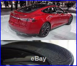 Carbon Fiber Trunk Lip Spoiler For Tesla Model S 2012 2013 2014 2015 2016 2017