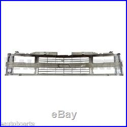 Chrome Grille withBlack Insert For 94-98 Chevy C/K Pickup Suburban Tahoe GM1200238