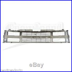 Chrome Grille withBlack Insert For 94-98 Chevy C/K Truck Suburban Tahoe GM1200238