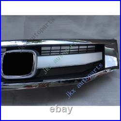 Chrome Sport Model Front Bumper Middle Center Grille For Honda Accord 2008-10