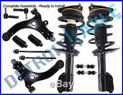 Complete 12pc Front Suspension Kit + Both (2) Front Strut Assembly for GM Models
