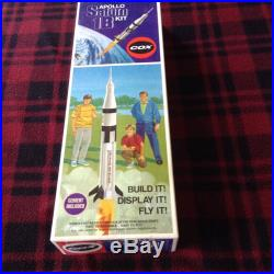 Cox Vintage Saturn1b Rocket Model Partially Builtmany Extra New Parts Included