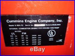 Cummins Model V-504-f2 Diesel Engine 393 Hours On Meter Nice