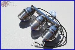Custom Blue Tri Mini Marker Visor Outside Light Tree Bolt On Hot Rat Rod Truck