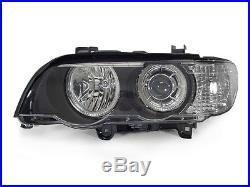 DEPO LED Halo HID Headlight + Auto-Level For 00-03 BMW E53 X5 Stock Xenon Model