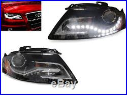 DEPO OE Xenon S4 Style LED DRL Headlight For 2009-2012 Audi A4 B8 Halogen Model