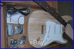 Diy- New 2017 Model Strat 6 String Electric Guitar -quality Wood And Parts