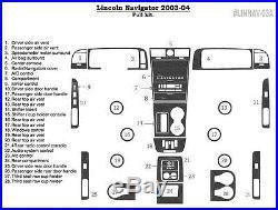 Dash Trim Premium Kit 28 Pcs Fits Lincoln Navigator 2003-2004 Model