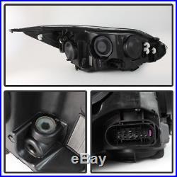 European ST Model For 2012-2014 Focus LED DRL Black Projector Headlights Halogen