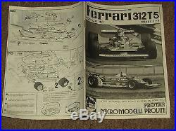 FERRARI 312 T5 MOD 166 MODEL KIT 112 Scale PROTAR ITALY NEW ALL PARTS & DECALS