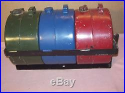 Ford Model Traregas, Oil, And Water Cans In Bracket For Auto Running Boards