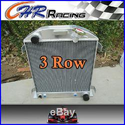 FOR 3 ROW Ford 1932 hot rod withChevy 350 V8 engine aluminum radiator