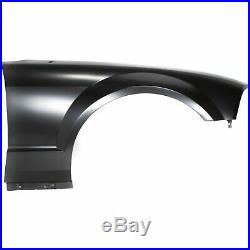 Fender For 2005-2009 Ford Mustang Front Passenger Primed Steel with Antenna Hole