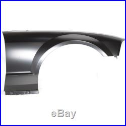 Fender For 2005-2009 Ford Mustang Front Right Primed Steel with Molding Holes