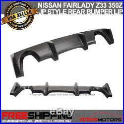 Fit 03-08 Nissan Fairlady Z Z33 350Z J Style Rear Bumper Lip Diffuser PU