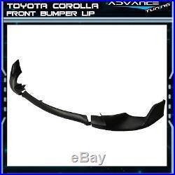 Fit 14-16 Toyota Corolla Base Model Front Bumper Lip 3 Pieces PU Urethane