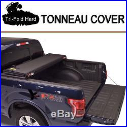 Fit 1997-2003 Ford F-150 Lock Hard Solid Tri-Fold Tonneau Cover 6.5ft (78in) Bed