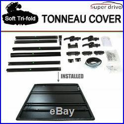 Fit 1999-2019 F250/F350/F450 SUPERDUTY Assemble Tri-Fold Tonneau Cover 6.5ft Bed