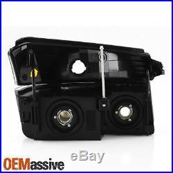 Fit 2002-2006 Chevy Avalanche Body Cladding Model Black Headlights + Bumper Set