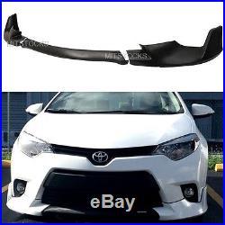 Fit 2014-2016 Toyota Corolla Base Model Pu Add-on Front Bumper Lip Spoiler 3 Pcs
