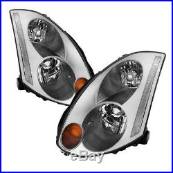 Fit Infiniti 03-05 G35 2dr Coupe D2R Xenon Models Chrome Replacement Headlights