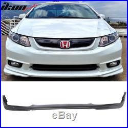 Fits 12 Honda Civic 4Dr Sedan USDM Modulo Style Front Bumper Lip Urethane PU