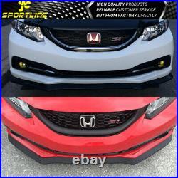 Fits 13 14 15 Honda Civic Sedan PU Front Bumper Lip USDM Model CS Style
