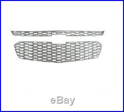 Fits 14-15 Chevy Malibu, All Models-Chrome Grille Overlay IWCGI128